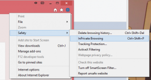 How to Start an New In Private Browsing Window in Internet Explorer